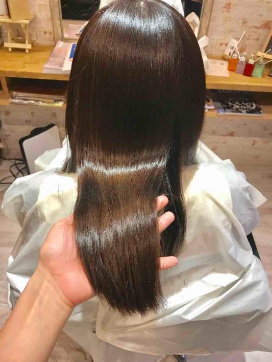 山口市 美容室 美容院 シューケット/白髪染め/アッシュ/透明感/軽い/ベージュ/ミルクティ