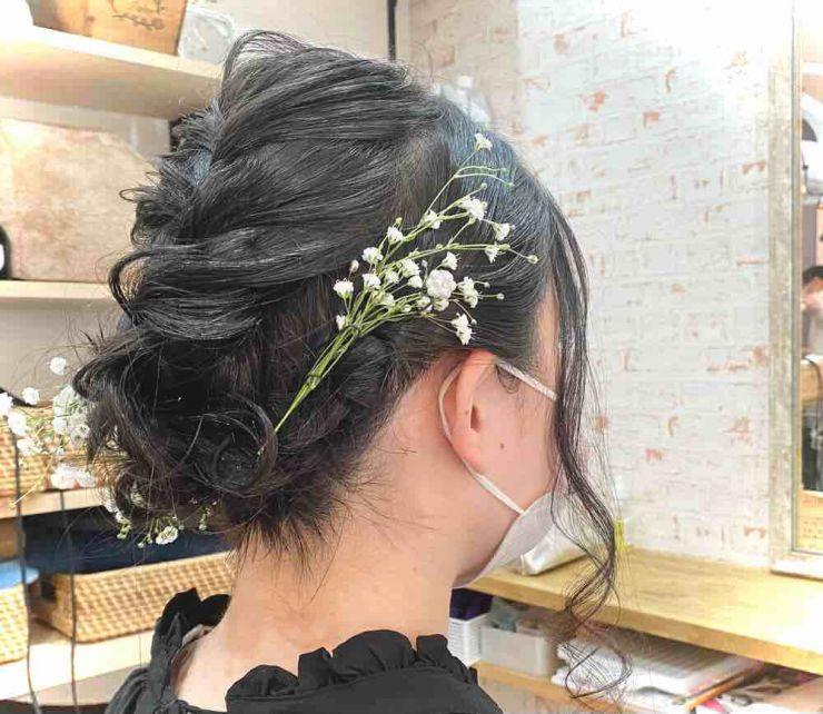 山口市 美容室 美容院 シューケット 結婚式 卒業式 成人式 ヘアセット
