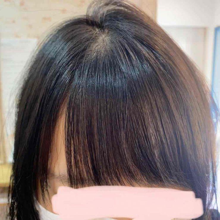 山口市 美容室 美容院派 縮毛矯正 伸びる 前髪矯正