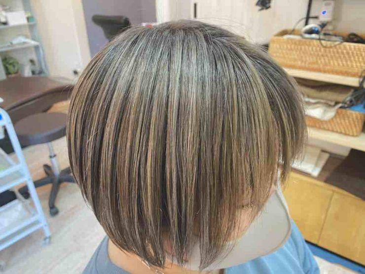 山口市 美容室 美容院 シューケット【グレイヘア完了形】白髪染め/やめる/おしゃれ/若白髪/ハイライト