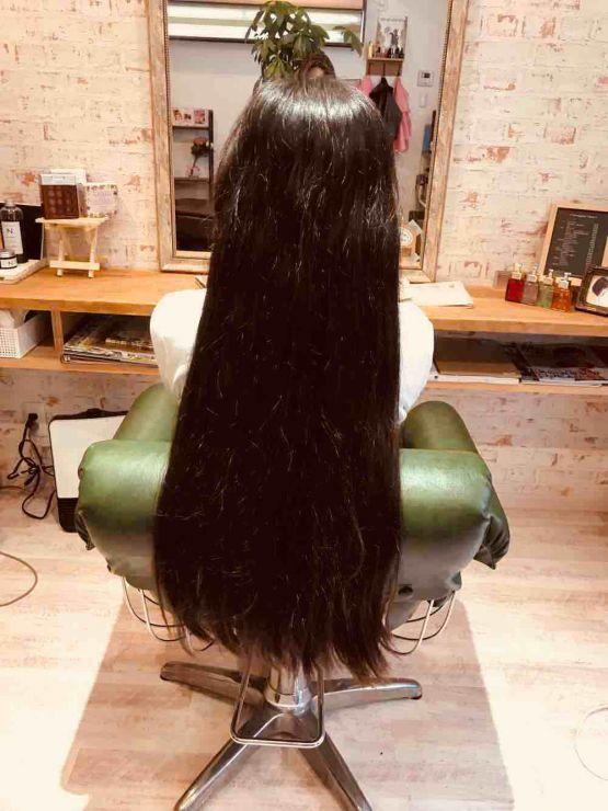 山口市 美容室 美容院 シューケット/60cmのヘアドネーション/髪の毛/寄付/女性スタッフ/個人