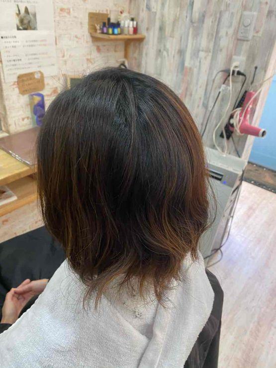 山口市 美容室 美容院ハイライト/ママ/白髪染め/30代/ヘアカラー/くっきり