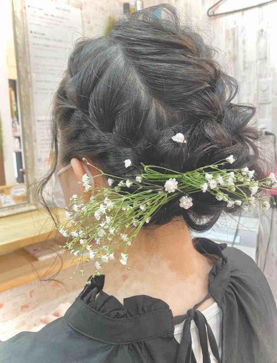山口市 成人式 結婚式 ヘアセット
