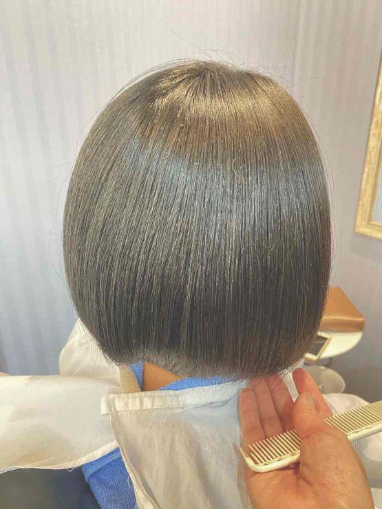 山口市 縮毛矯正 ストレート 酸熱トリートメント 髪質改善