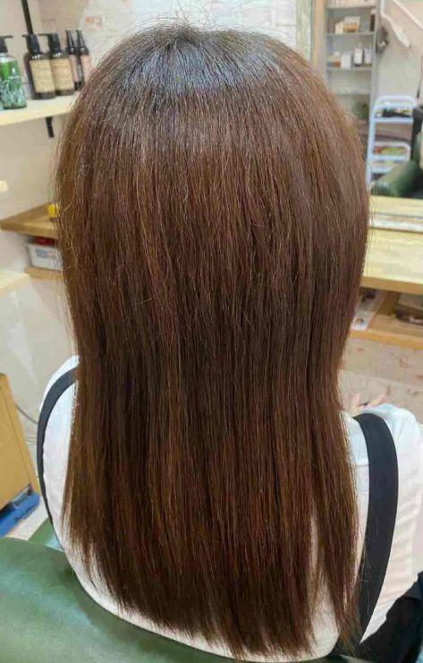 山口市  縮毛矯正 酸性 インナーカラー 白髪染め 傷み 酸熱トリートメント