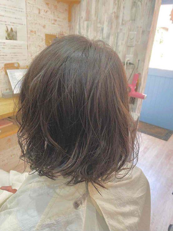 山口市 縮毛矯正 ストカール ストデジ 自然 ツヤ 傷めない 伸びる