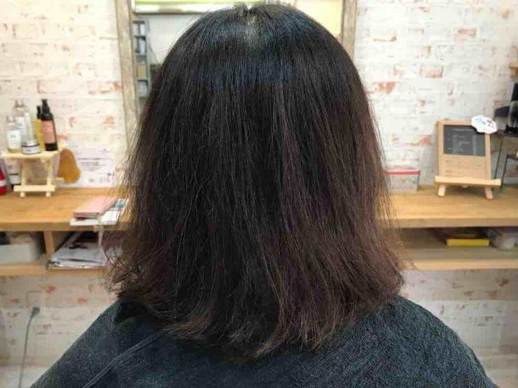 山口市 美容室 美容院 シューケット /ノンアルカリ髪質改善/矯正しない/アイロンなし/梅雨/縮毛矯正