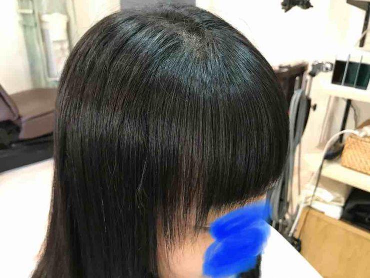 山口市 美容室 美容院 シューケット/前髪/クセが強い/縮毛矯正/ストデジ/自然な/ツンツンしない/前髪/ストパー