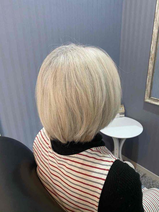 山口市 美容室 美容院 シューケット【グレイヘア完了形】白髪染め/やめる/抜く/白くする